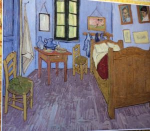 Van Gogh paints the room
